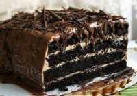 Mitra šokolādes torte ar riekstu krēmu (fotorecepte)