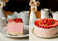 """Vilinošs vasaras gardums – torte """"Zemeņu muss"""" (fotorecepte)"""