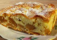 """Ātri pagatavojama un ļoti garšīga ābolu kūka """"Sliņķīte"""": sulīga, apetītelīga"""