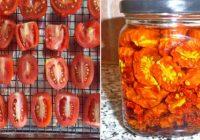 Cepeškrāsnī pagatavojami saulē kaltēti tomāti